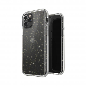 View more Speck Presidio Clear Protective Phone Case for Apple iPhone 11 Pro - Clear/Gold details