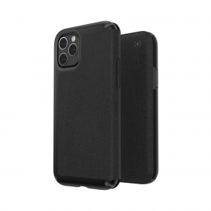 View more Speck Presidio Folio Wallet Phone Case for Apple iPhone 11 Pro - Black/Grey details