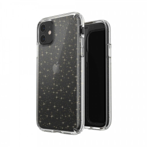 View more Speck Presidio Clear Tough Phone Case Cover for Apple iPhone 11 - Clear Glitter details