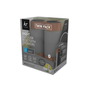 View more KitSound DIGGIT OUTDOOR BLUETOOTH SPEAKER TWIN PACK details!!