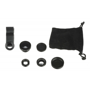 View more Kitvision 3in1 Clip Lens Set for Smartphones Macro, Fisheye, Wide-angle Lens details