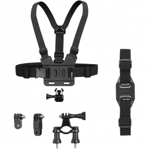 View more Kitvision Kit for GoPro and Action Cameras with Chest, Bike, and Helmet Mounts details