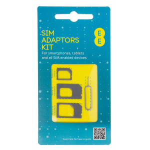 View more Nano & Micro SIM Adaptor Pack with SIM removing tool EE details