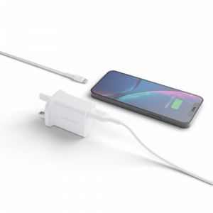 View more Essentials 12W + Lightning to USB-A cable - UK White details